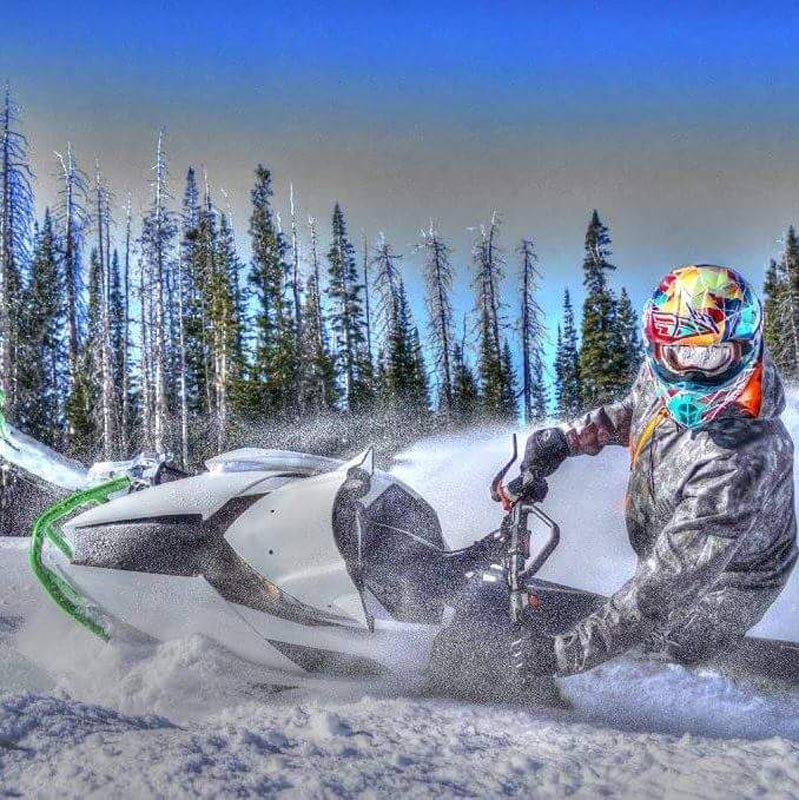 Artist photo of snowmobile.